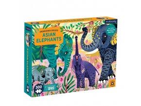 13140 2 puzzle sloni 300 ks 300 piece puzzle asian elephants endangered species