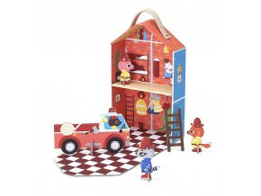 Cestovní hrací set -  hasičská stanice