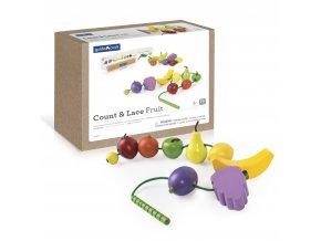 Počítání a navlékání ovoce (Count and lace fruit)