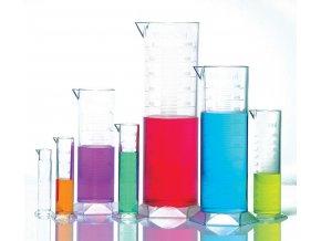 Vysoké průhledné nádoby na měření (Graduated cylinders)