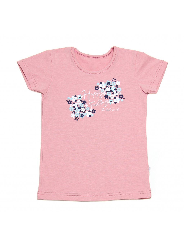 Dívčí tričko HAPPY FEELING krátký rukáv