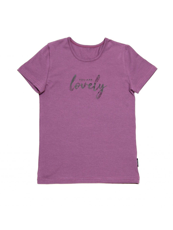 Dívčí tričko LOVELY krátký rukáv