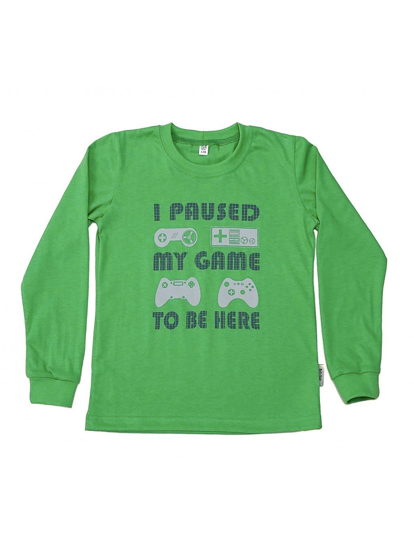 Chlapecké tričko MY GAME dlouhý rukáv