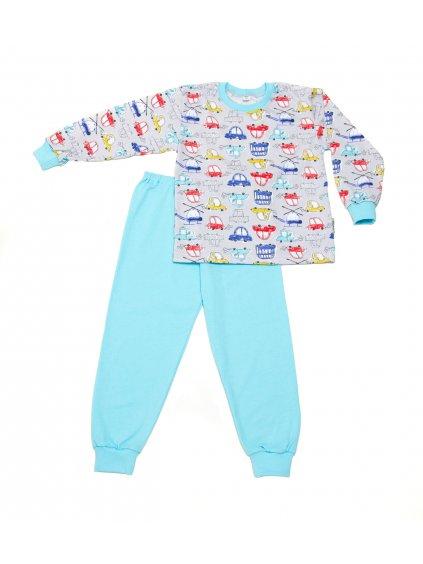 Dětské pyžamo AUTÍČKA BAREVNÁ  dlouhý rukáv
