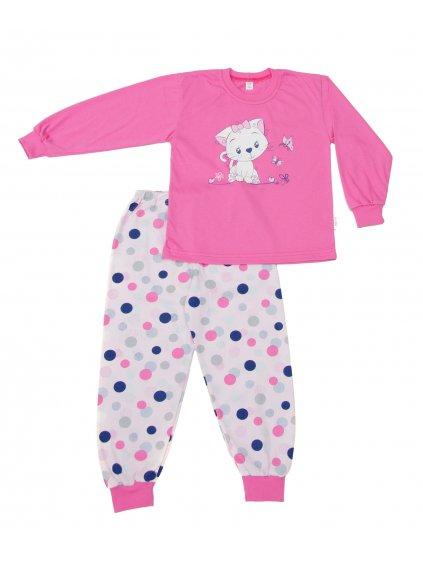 Dětské pyžamo KOTĚ dlouhý rukáv