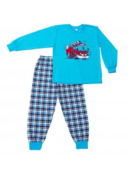 Dětské pyžamo HASIČSKÉ AUTO dlouhý rukáv