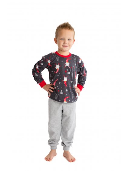Dětské pyžamo VÁNOČNÍ SKŘÍTEK dlouhý rukáv