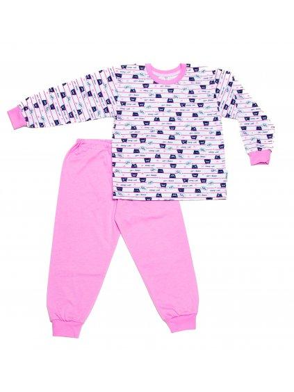 Dětské pyžamo SPÍCÍ KOCOUR dlouhý rukáv