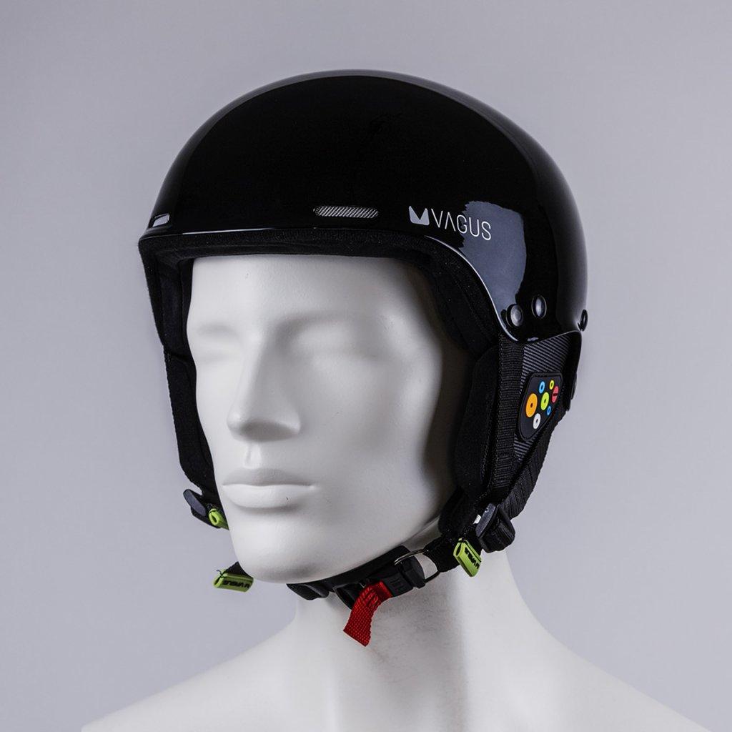 Lyžařská helma Vagus Kevlar eXBlackown lesk