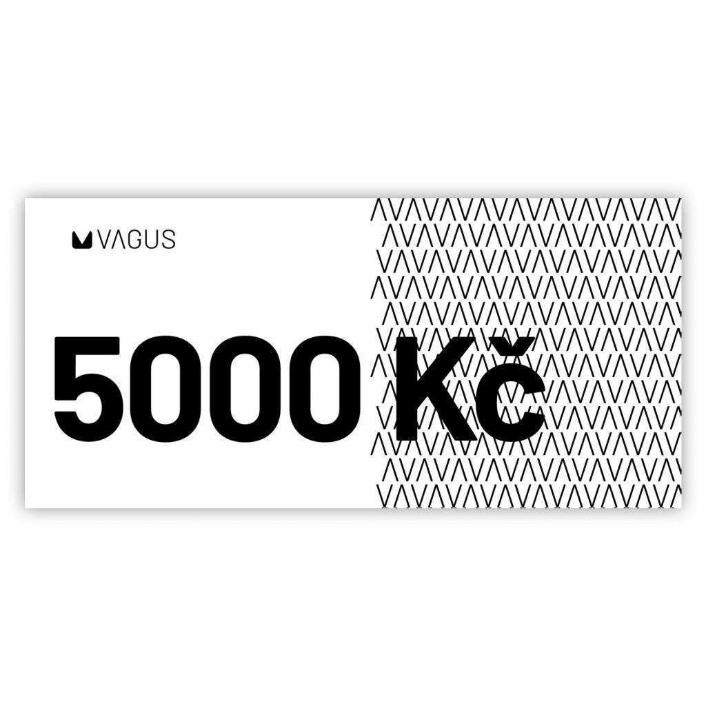 Dárkový poukaz - 5000 Kč