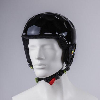 Lyžařská helma Vagus Kevlar MegaSpeed Black lesk