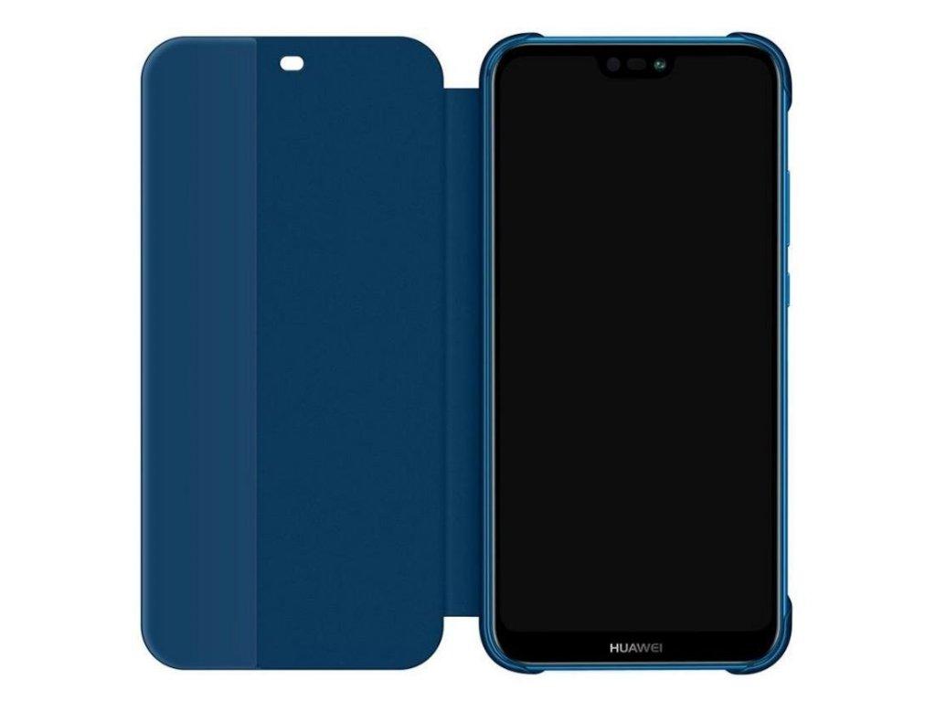 Originální pouzdro Flip S-View Cover na Huawei P20 Lite - modré ... 9ce94369e6d