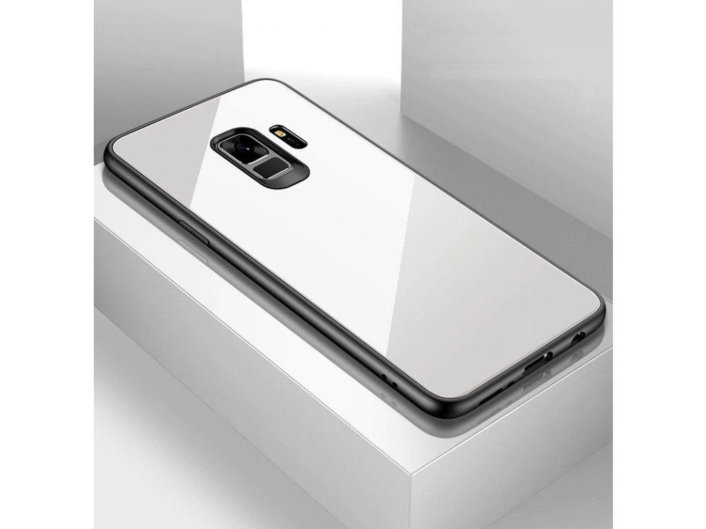 Skleněný kryt na Samsung Galaxy A8 2018 - bílý - Bewear.cz  b20e35dd472