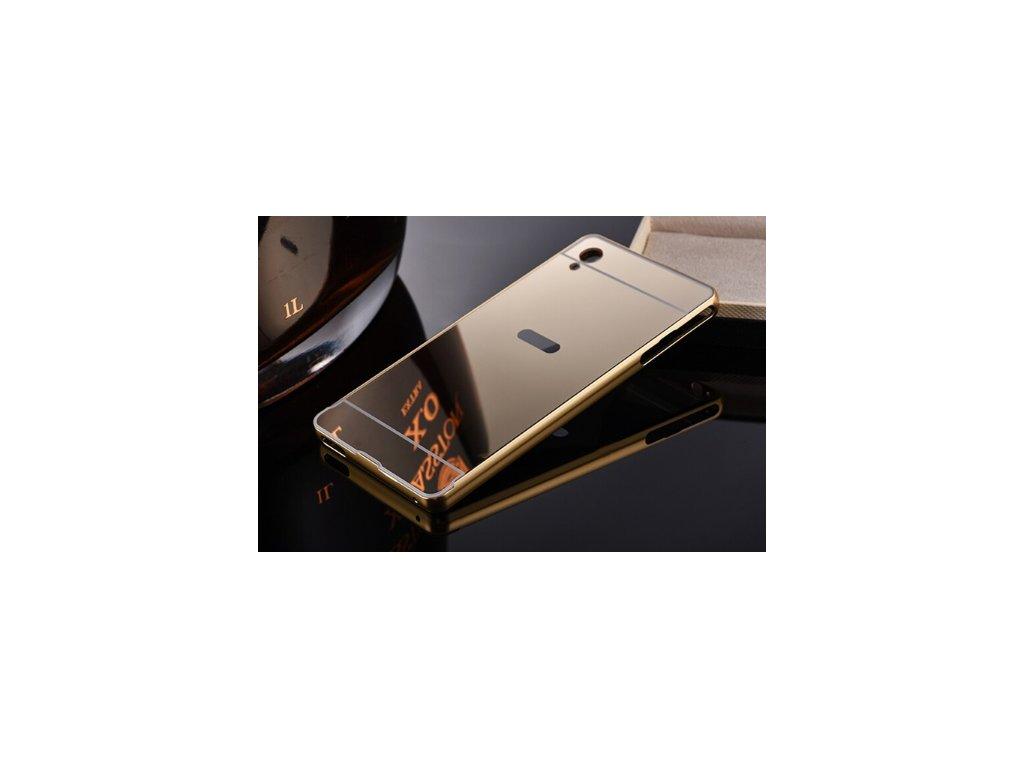 Zrcadlový kryt na Sony Xperia M4 Aqua zlatý + Doprava zdarma ... 560cafd5d85