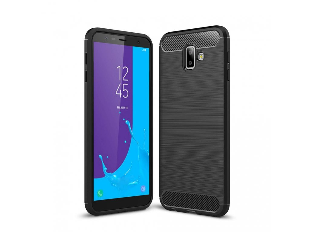 Ohebný Carbon Kryt Na Samsung Galaxy J6 Plus černý Bewear Cz