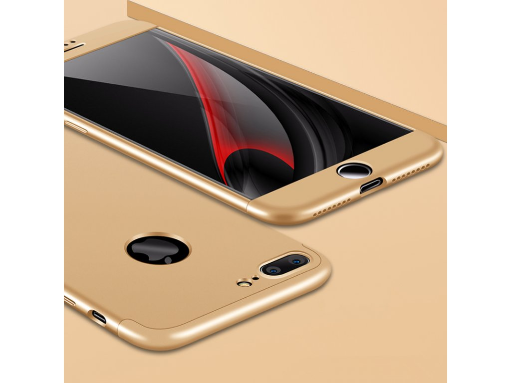 360 oboustranný kryt na iPhone 7 Plus   iPhone 8 Plus - zlatý ... da82f2ef2e2