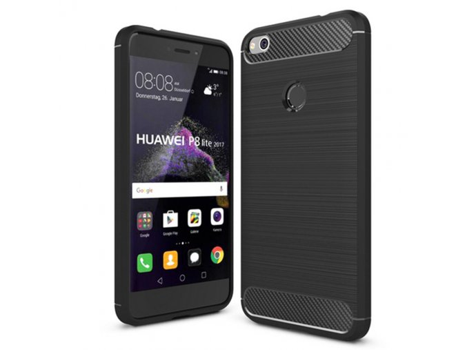 Carbon Case Flexible Cover TPU Case for Huawei P9 Lite 2017