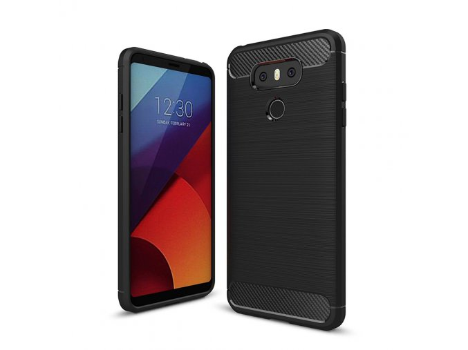 Carbon Case Flexible Cover TPU Case for LG G6 H870 black