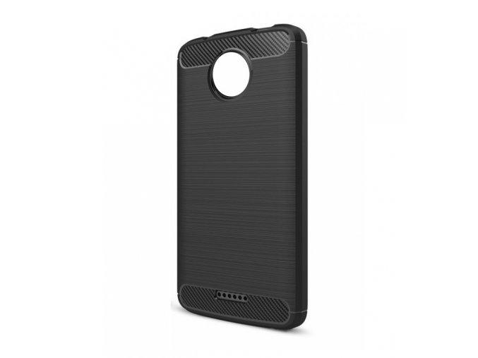 Ohebný carbon kryt na Motorola Moto C Plus - černý