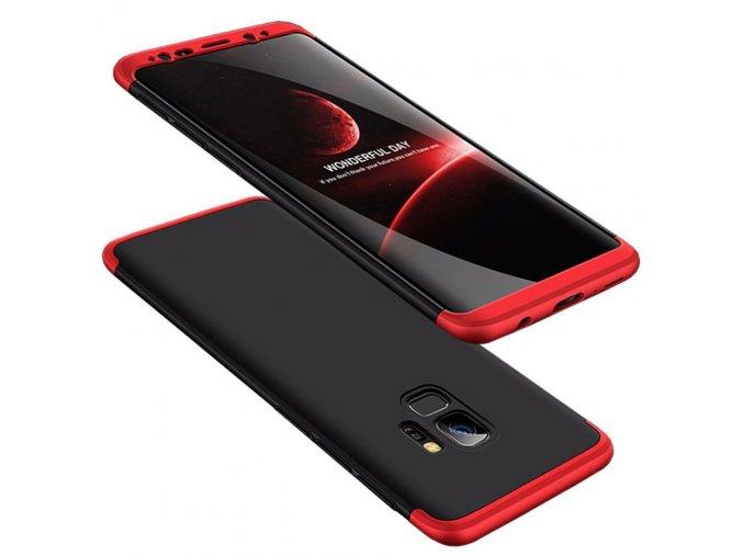 360 oboustranný kryt na Samsung Galaxy S9 červenočerný 1