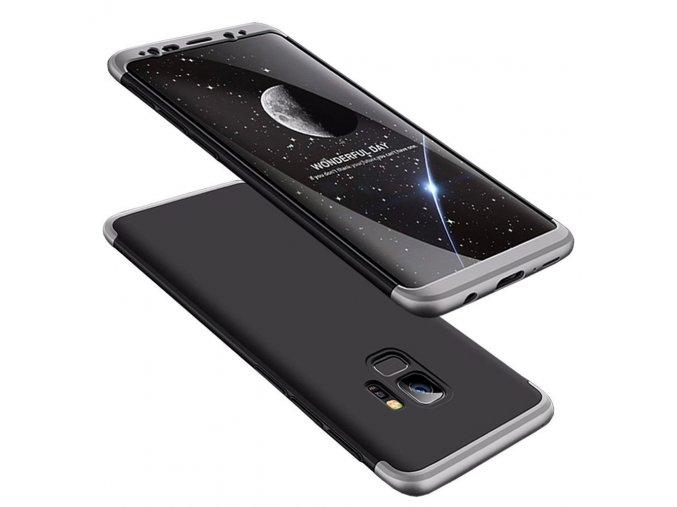 360 oboustranný kryt na Samsung Galaxy S9 stříbrnočerný 1