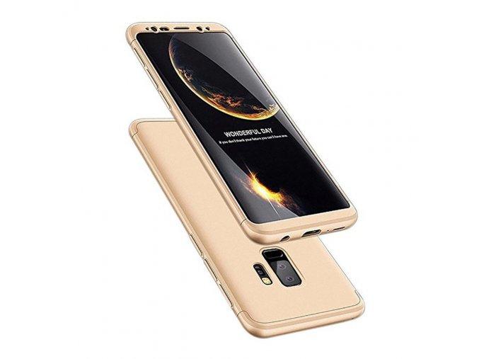 360 oboustranný kryt na Samsung Galaxy S9 Plus zlatý 1