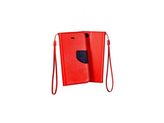 flipové pouzdro na Samsung S9 červené s páskem