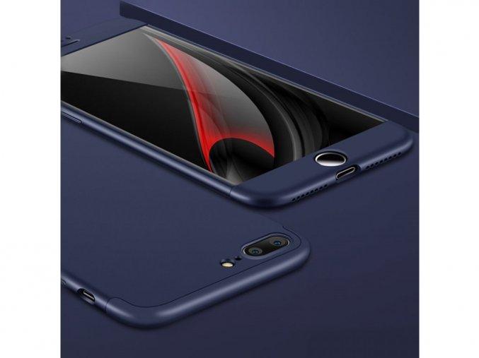 360 oboustranný kryt na iPhone 7 Plus / iPhone 8 Plus - modrý bez výřezu na logo