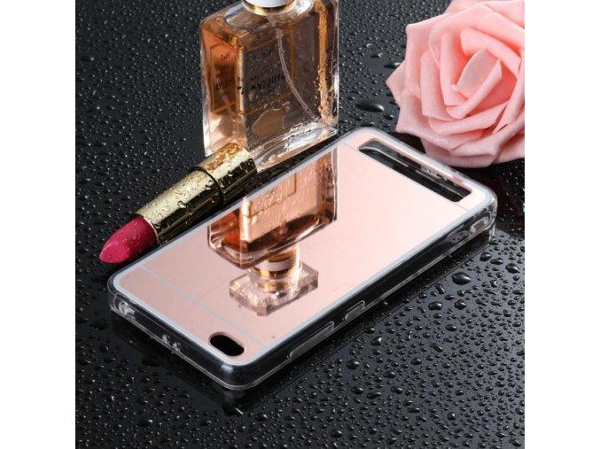 zrcadlový silikonový kryt na Xiaomi redmi 5a růžový