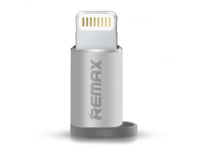 eng pl Micro USB to Lightning adapter Remax silver 15557 4