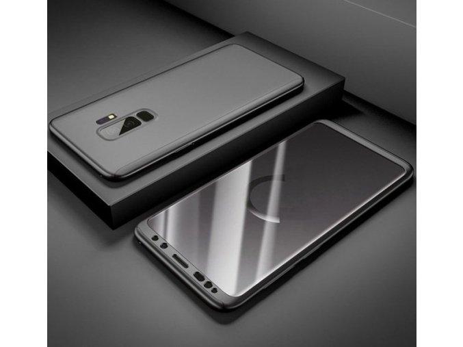 360 oboustranný kryt s TVRZENÝM SKLEM na Samsung Galaxy A8 2018 - černý