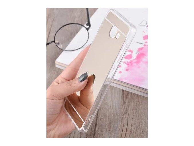 Silikonový zrcadlový kryt na Samsung Galaxy J7 2016 zlatý
