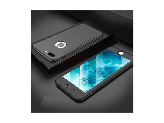 360 oboustranný kryt s TVRZENÝM SKLEM na iPhone SE 2020 / iPhone 8 / iPhone 7 - černý