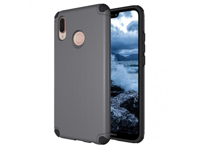 eng pl Light Armor Case Rugged Durable PC Cover for Huawei P20 Lite grey no metal plate 40702 1