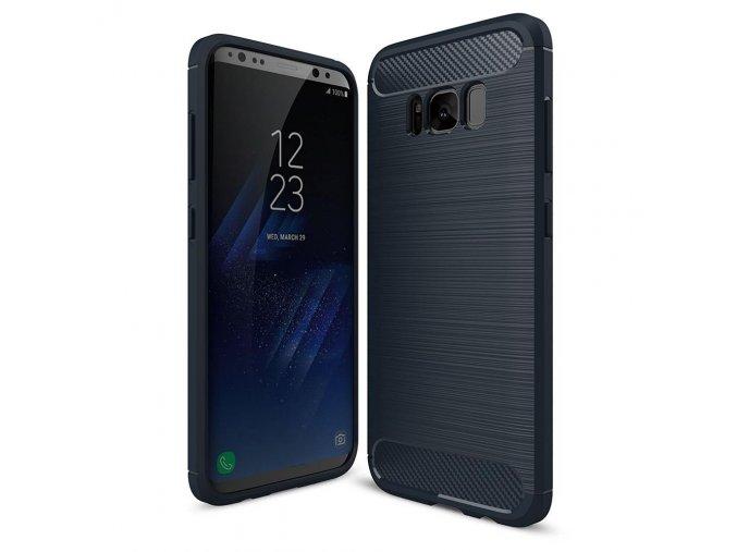 eng pl Carbon Case Flexible Cover TPU Case for Samsung Galaxy S9 Plus G965 blue 40726 1