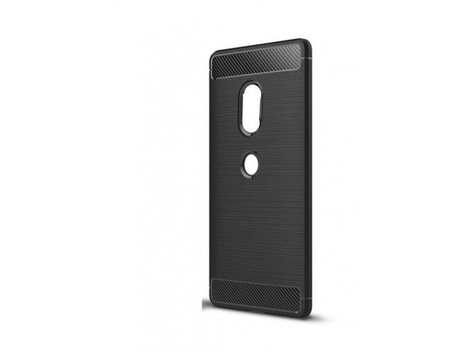 Ohebný carbon kryt na Sony Xperia XZ2 - černý