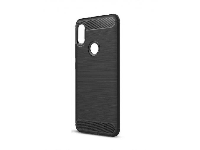Ohebný carbon kryt na Xiaomi Redmi S2 - černý