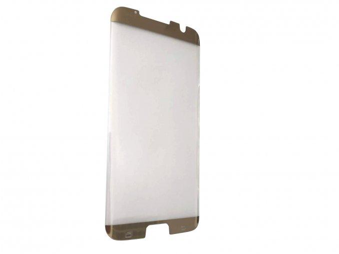 3D tvrzené sklo na Samsung Galaxy S7 Edge - zlaté (kompatibilní s krytem)