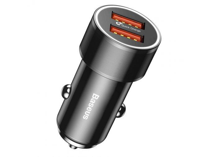 Baseus Small Screw Univerzální rychlonabíječka 3.0 2x USB QC 3.0 36W černá