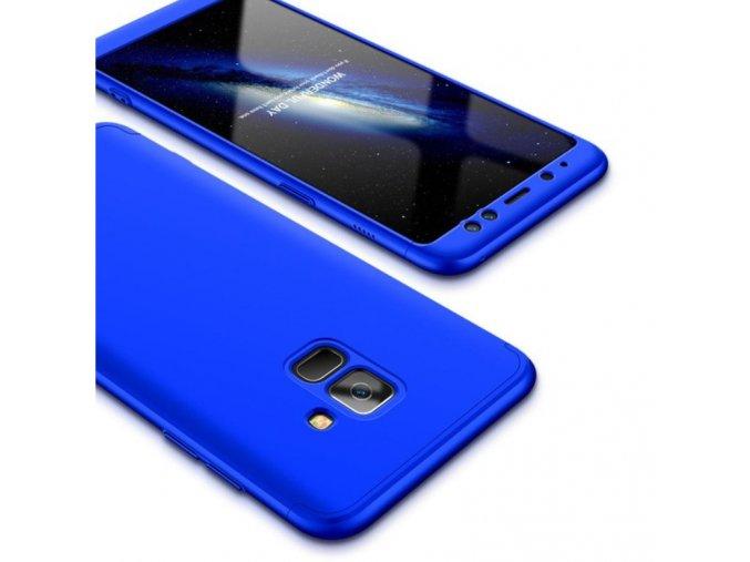 oboustranný kryt 360 na samsung A6 modrý tit
