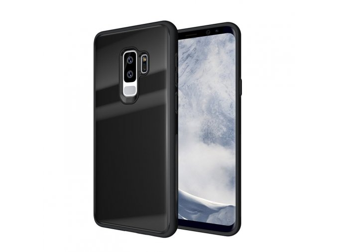eng pl Tempered Glass Case Durable Cover with Tempered Glass Back Samsung Galaxy S9 Plus G965 black 38912 1