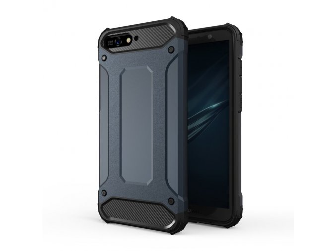 eng pl Hybrid Armor Case Tough Rugged Cover for Huawei Y6 2018 blue 42379 1