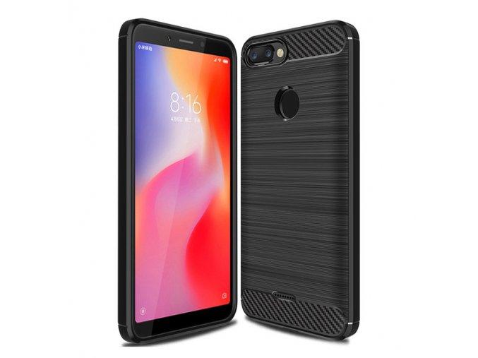 eng pl Carbon Case Flexible Cover TPU Case for Xiaomi Redmi 6 black 42163 1