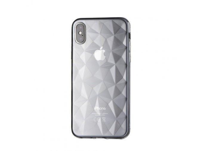 Silikonový diamantový kryt na iPhone XR - transparentní