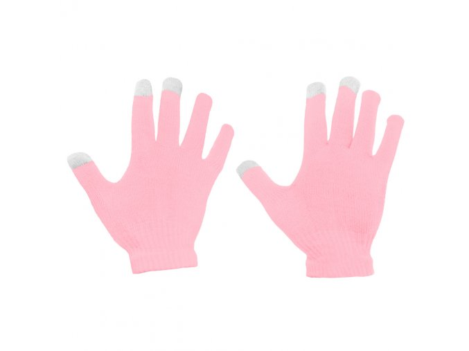eng pl Universal Touchscreen Winter Gloves Striped Gloves pink 27071 2