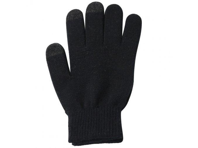 Protiskluzové dotykové rukavice S-M - černé