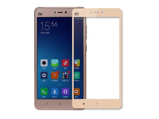3D tvrzené sklo na Xiaomi max s rámečkem zlaté