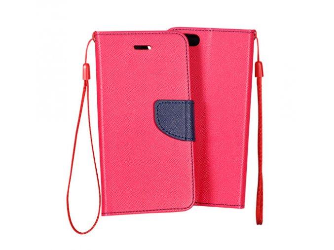 flipové pouzdro na xiaomi redmi 4x růžovo modré s páskem kopie
