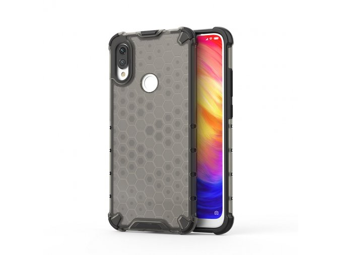 eng pl Honeycomb Case armor cover with TPU Bumper for Xiaomi Redmi Note 7 black 53889 1
