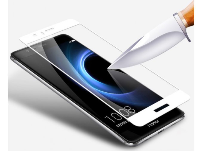 3D tvrzené sklo pro Honor 8 bílé